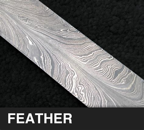 feather pattern chef s knife blade options bliss knife works