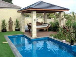 Small Backyard Pool Landscaping Ideas Triyae Small Backyard Landscaping Ideas With Above Ground Pool Various Design