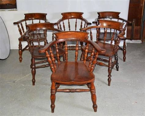 Captain Chairs For Dining Room Set Of Six Captains Chairs For Sale At 1stdibs