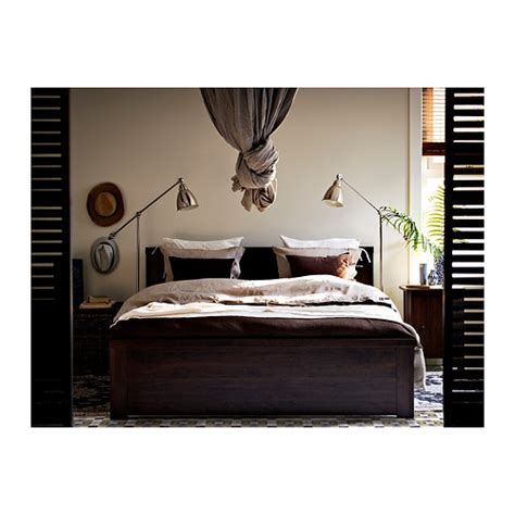 brusali bedroom brusali bed frame brown lur 246 y standard double ikea