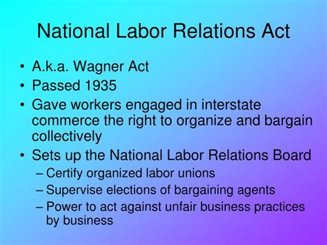 national labor relations act section 7 ppt new deal chapter 15 powerpoint presentation id 4096757