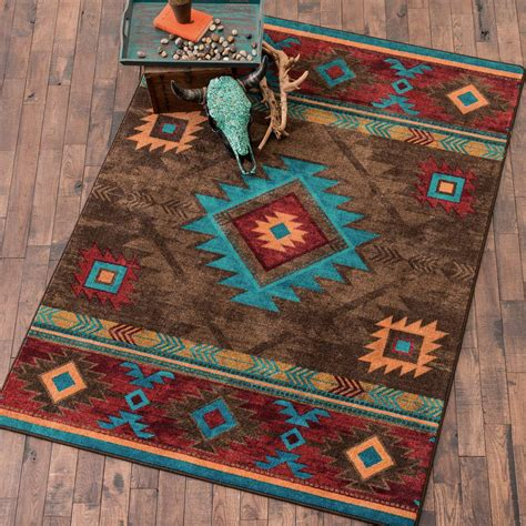 rugs decor southwest rugs whiskey river turquoise rug collection