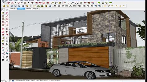 sketchup tutorial render exterior nocturno vray youtube sketchup tutorial vray home sketchup exterior youtube