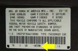honda color codes paint code location images frompo