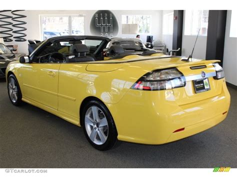 lynx yellow 2008 saab 9 3 2 0t convertible exterior photo