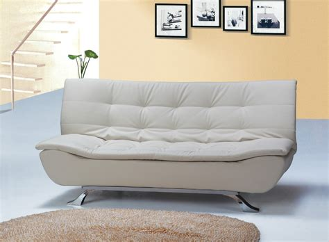 ivory ottoman bed designer ivory faux leather sofa bed 4 seater with