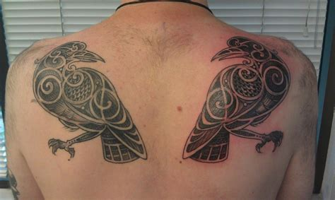 huginn and muninn tattoo 27 hugin and munin tattoos