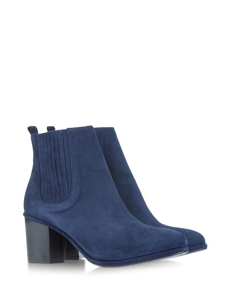 boots blue opening ceremony ankle boots in blue blue lyst