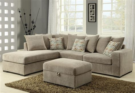 Olson Sectional Sofa 500044 In Taupe Fabric By Coaster Coaster Sectional Sofa