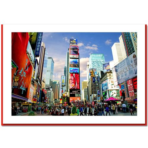 Nyc Gift Card - times square north new york ny christmas photo cards ny christmas gifts