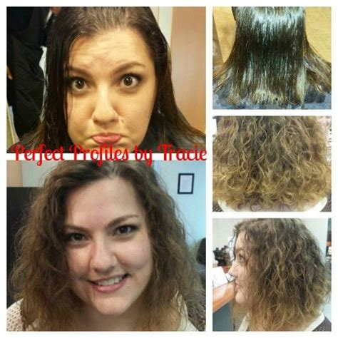 perms for fine hair before and after first perm on medium length bob fine hair