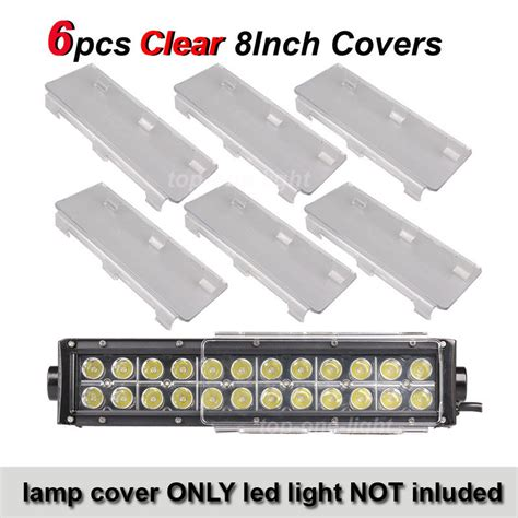 Obeng Led 8 In 1 6x 8 quot inch clear cover lens for road led light bar 8 40 48w 288w ebay