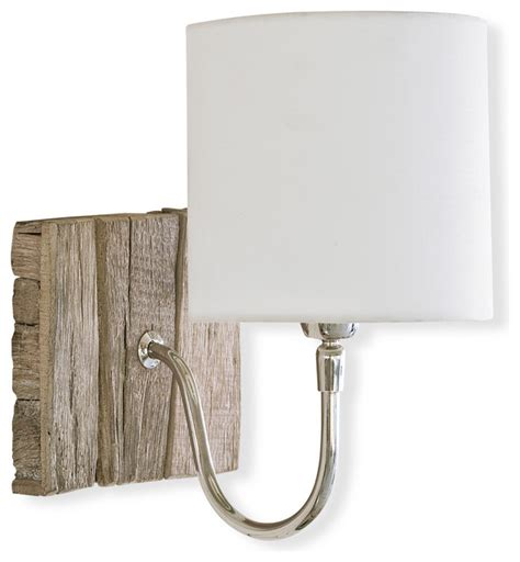 Coastal Style Wall Sconces kenzie coastal style weathered wood bent arm sconce style wall lighting by kathy kuo