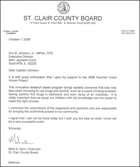 Sle Letter In Support Of Project Haunted House Project Letters Of Support