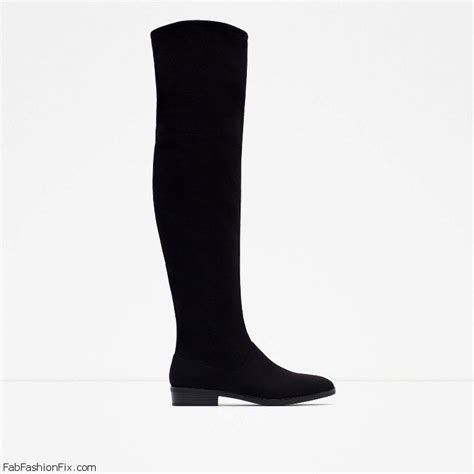 Zara 3cm Black zara boots collection for fall winter 2015 fab fashion fix