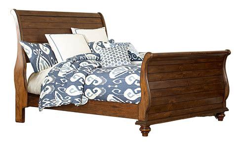 hillsdale beds hillsdale pine island sleigh bed dark pine 1215b bed