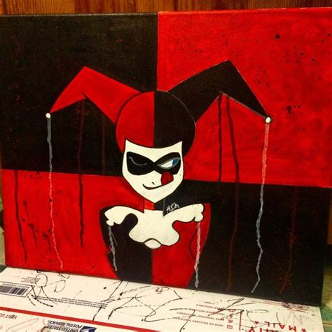 acrylic painting of joker harley quinn dc comics batman joker painting acrylic