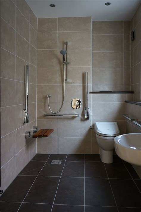 wet room shower with disabled access disable bathroom