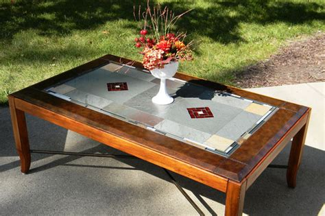 Stained Glass Coffee Table Stained Glass Coffee Table P R S