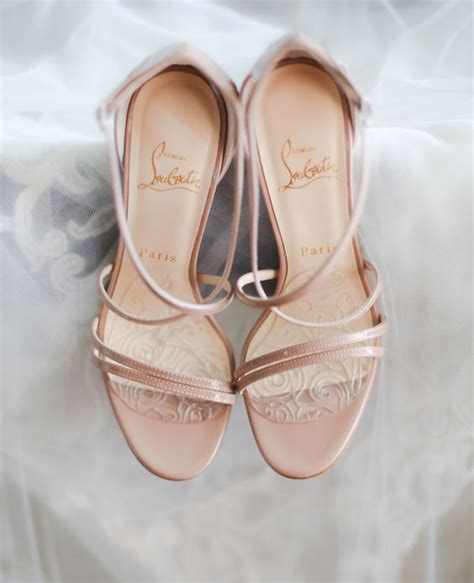 Blush Bridal Heels by Picture Of Strappy Blush Bridal Heels By Christian Louboutin