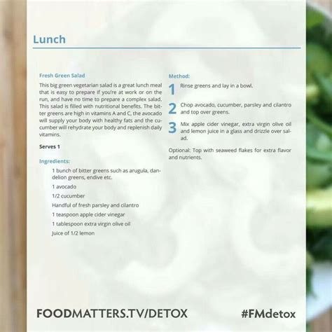 Food Matters Detox Guide 2014 by Food Matters 3 Day Detox Cleanse January 9th