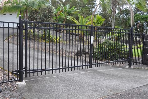 double swing gate gates gate operators island wide fencing