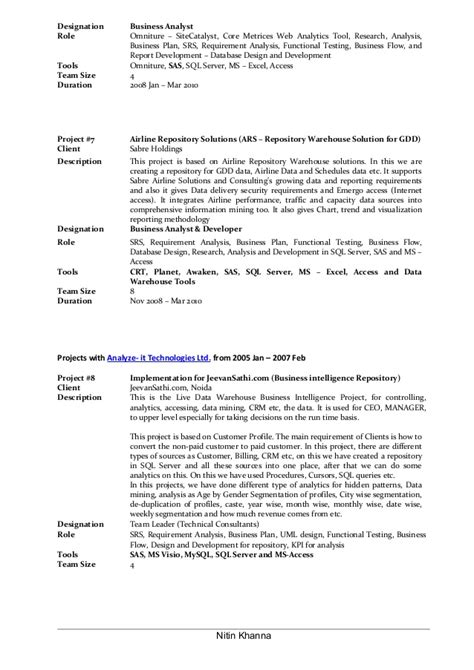 enchanting sle resume of business analyst in banking