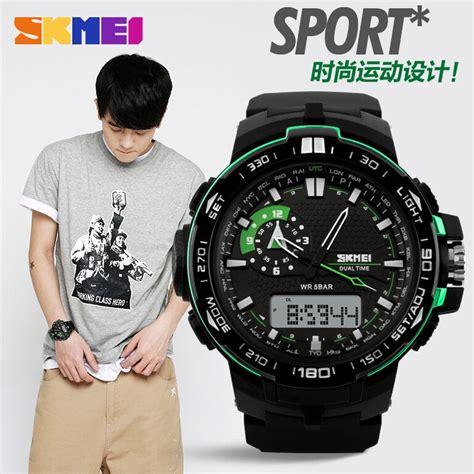 Jam Tangan Pria Sport Digital Outdoor Keren Gaul Murah Kerja O skmei jam tangan sport pria ad1081 black green jakartanotebook