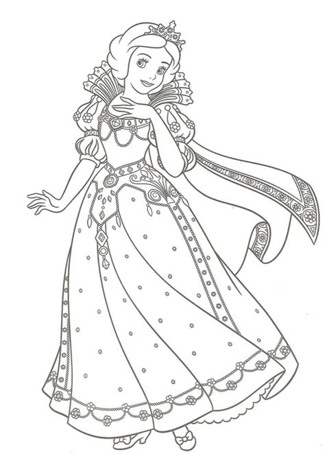 new princess coloring pages princess snow white was given a new dress christmas day