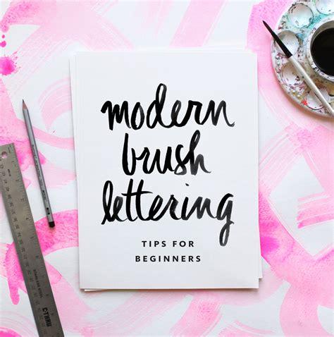 Holiday Home Interiors modern brush lettering tips for beginners