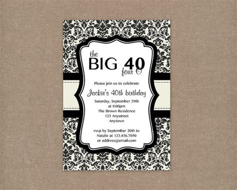 40th birthday invitation templates free 9 best images of 40th birthday invitations printable