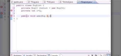 How To Create A Class To Hold Objects When Java