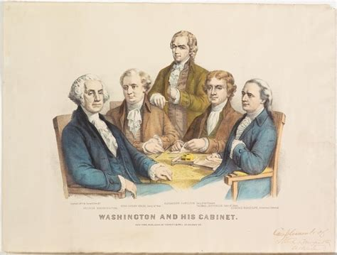 who was in washington s cabinet washington and his cabinet currier ives springfield