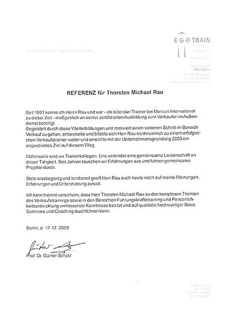 referenzschreiben muster trainer zertifikat und referenzschreiben thorsten michael rau team rau seminare