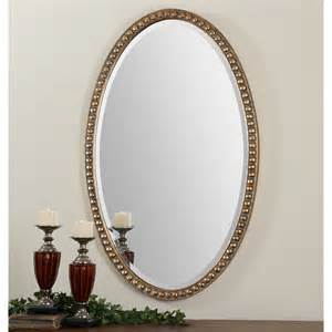 Horizontal Bathroom Cabinet by Uttermost 12885 Beadel Oval Mirror