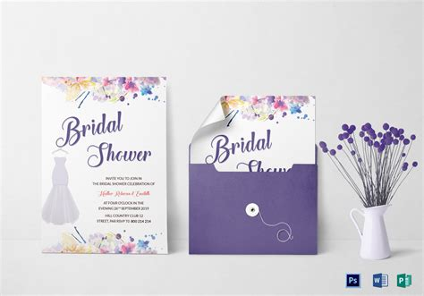 Autumn Bridal Shower Invitation Design Template In Word Psd Publisher Free Bridal Shower Invitation Templates Photoshop