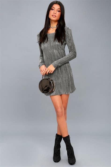 Black Shine Dress amuse society shine bright black and silver bodycon