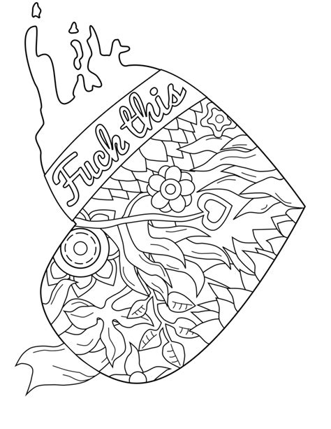 printable coloring pages swear words 50 free printable swear coloring pages at swearstressaway