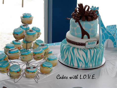 Blue Safari Baby Shower by Safari Blue Baby Shower Cake Cakecentral
