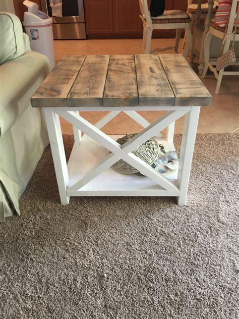 Handmade Farm Tables - custom rustic farmhouse end table