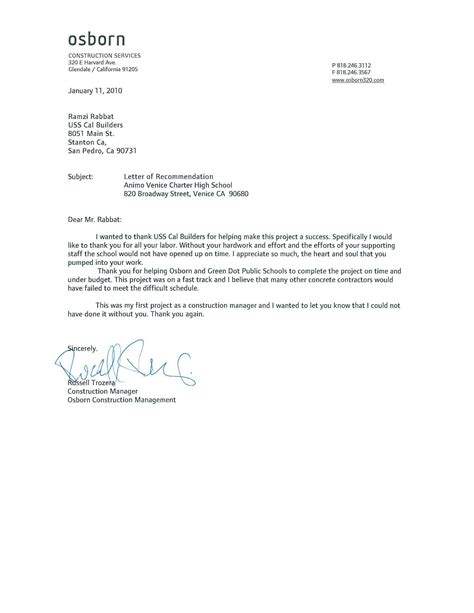 Recommendation Letter On Letterhead Letter Of Recommendation Sles