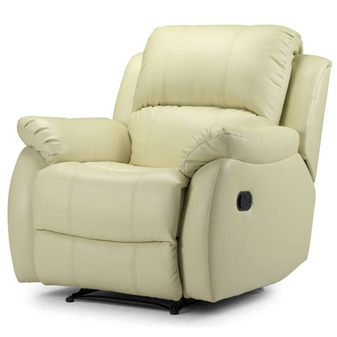 leather recliner armchairs cream leather recliner armchair photos 10 small room