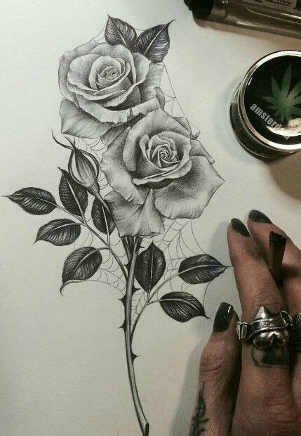 rose tattoo with stem image result for stem ideas
