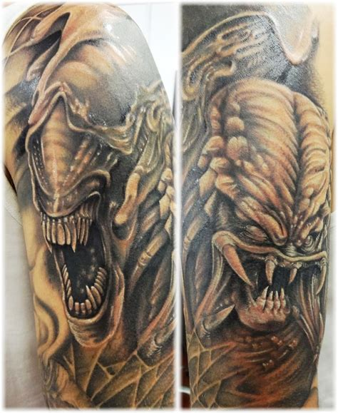 predator tattoo alien vs predator tattoos pinterest