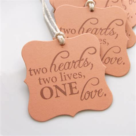 wedding shower favor tags sayings wedding tags quote set of 8 custom colors available bridal shower favor tags wedding