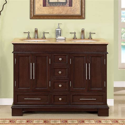 48 Inch Double Sink Bathroom Vanity In Dark Walnut Uvsr022448 48 Bathroom Vanity Sink