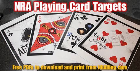 printable playing card targets target 171 daily bulletin
