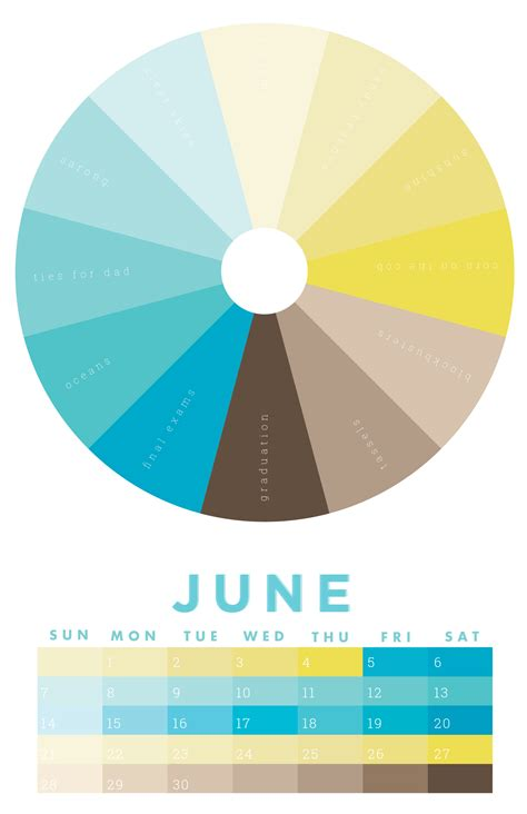 june color the colors of june 2015 chromophilia color wheel