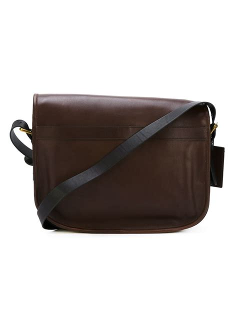 Visval Messenger Bags Brown lyst polo ralph classic messenger bag in brown for