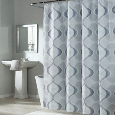 Blue And Grey Shower Curtains Buy Blue And Grey Fabric Shower Curtains From Bed Bath Beyond